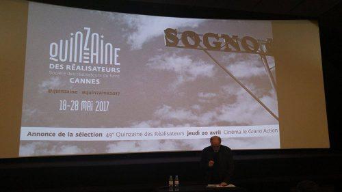 Conférence de presse de la Quinzaine des Réalisateurs 2017