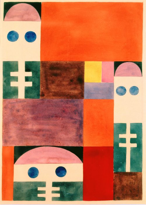 Sophie Taeuber-Arp (1889-1943) Motifs abstraits (masques), 1917
