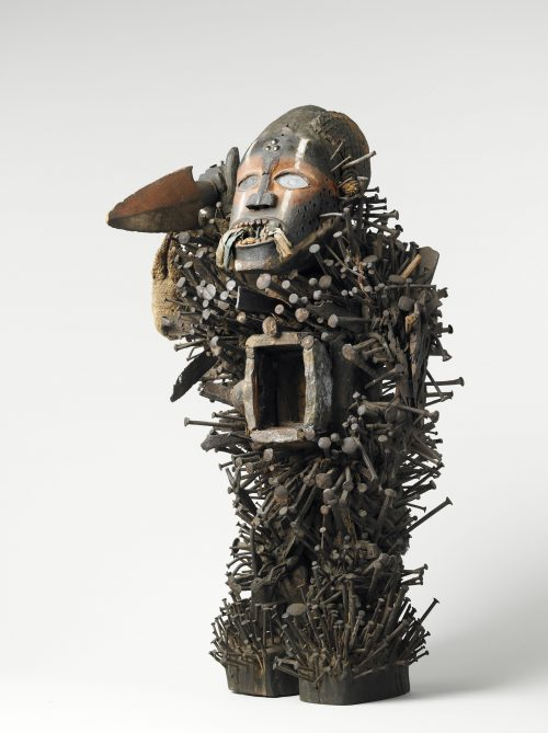Artiste inconnu : Statuette magique nkisi nkondi, Vili, Loango, avant 1892