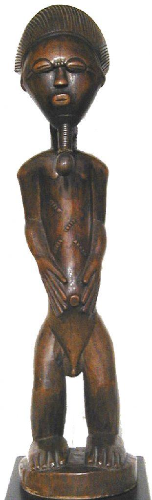 Artiste inconnu : Statuette masculine, Baoulé, Côte d'Ivoire, fin XIXe siècle