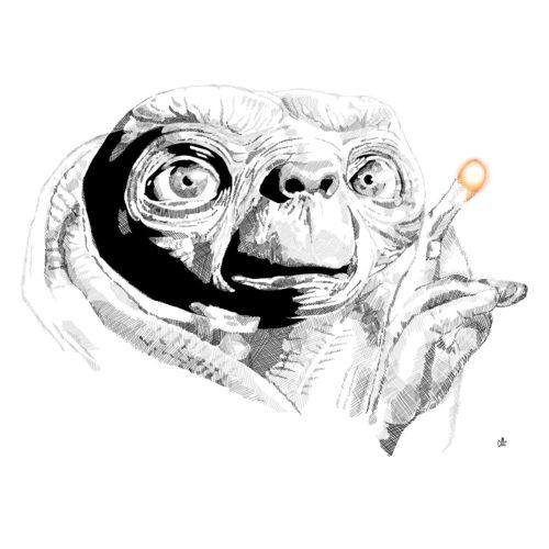 E.T. L'extra-terrestre / Illustration par Holy(me)
